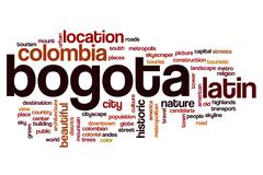 Bogota word cloud - stock illustration