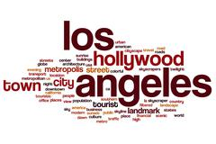 Los Angeles word cloud Stock Illustration