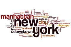 New York word cloud - stock illustration