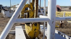 Drilling Rig grave yard power swivel - stock footage