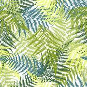 Fern seamless pattern Stock Illustration