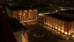 NY-LincolnCenter night high tilt Stock Footage