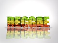 Word Reggae - stock illustration
