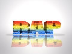 Word Rap - stock illustration