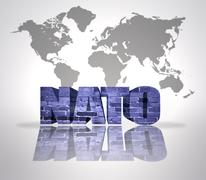 Word Nato - stock illustration