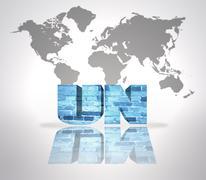 Word UN - stock illustration