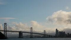Sunset SF Bay Bridge Timelapse 4k Stock Footage