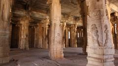 Vitala temple Hampi India Stock Footage