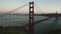 4K Time lapse close up Golden Gate Bridge Twilight to night Stock Footage