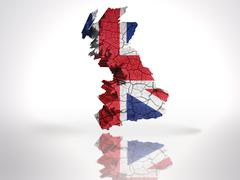 Map of  Great Britain - stock illustration