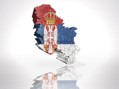 Stock Illustration of Map of  Serbia