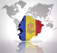 Map of  Andorra - stock illustration