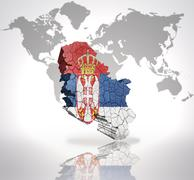 Map of  Serbia - stock illustration