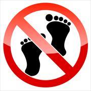 Prohibition signal feet Stock Illustration