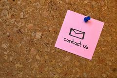 Memo: Contact us Stock Photos