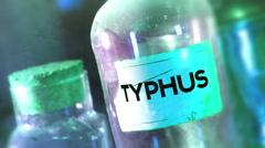 Typhus bottle disease 2 Stock Footage