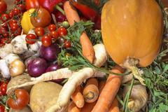 Stock Photo of Assortment of fresh vegetables.