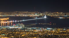 Time lapse of San Francisco and other parts of the Bay Area, high vantage point Stock Footage
