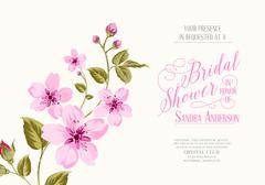 Bridal shower invitation - stock illustration
