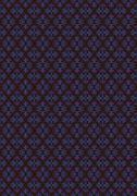 Colorful seamless retro wallpaper texture on black background - stock illustration