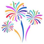 Beautiful colorful vector firework isolated on white background Piirros