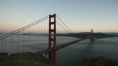 4K Time lapse Golden Gate Bridge Twilight to night Stock Footage