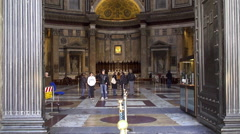 Interior of the Pantheon. Rome Stock Footage