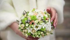 Floral decorations for wedding Stock Footage