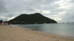 Reduit Beach, St. Lucia Stock Footage