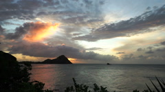 Sunset in St. Lucia - stock footage