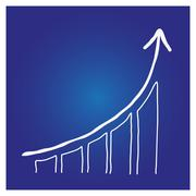 Analytical infographic economic growth - stock illustration
