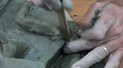 Clay sculpture Stock Footage