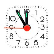 Clock showing five minute to midnight Stock Photos