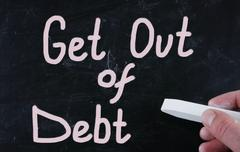 Stock Photo of get out of debt