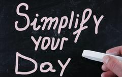 Simplify your day Stock Photos