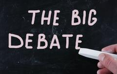 Stock Photo of the big debate