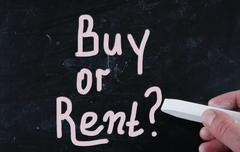 Stock Photo of buy or rent?