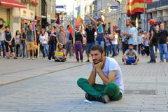 ISTANBUL - JUN 17: Labor unions call 1-day nationwide strike over crackdown o - stock photo