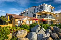 Beachfront homes in Imperial Beach, California. - stock photo