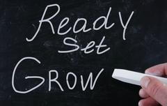ready set grow - stock photo