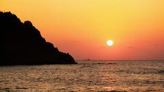 Sunset in Black Sea - stock photo