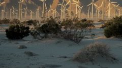 Energy producing Wind Farm in California  Stock Footage