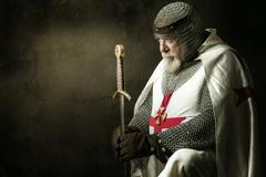 Templar knight - stock photo