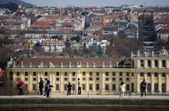 Stock Photo of Vienna top view from Schonbrunn Palace
