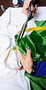 Fashion designer fabric cuts - stock photo