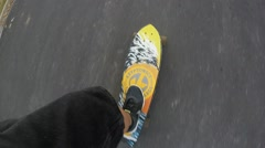 Long board point of view Stock Footage