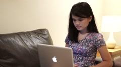 Asian business women using apple macbook pro - stock footage