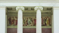 Classic Columns National Academy Building Stock Footage