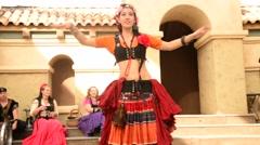 Belly Dancer Arizona Renaissance Festival 2015 Stock Footage