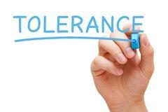 Tolerance Blue Marker Stock Photos